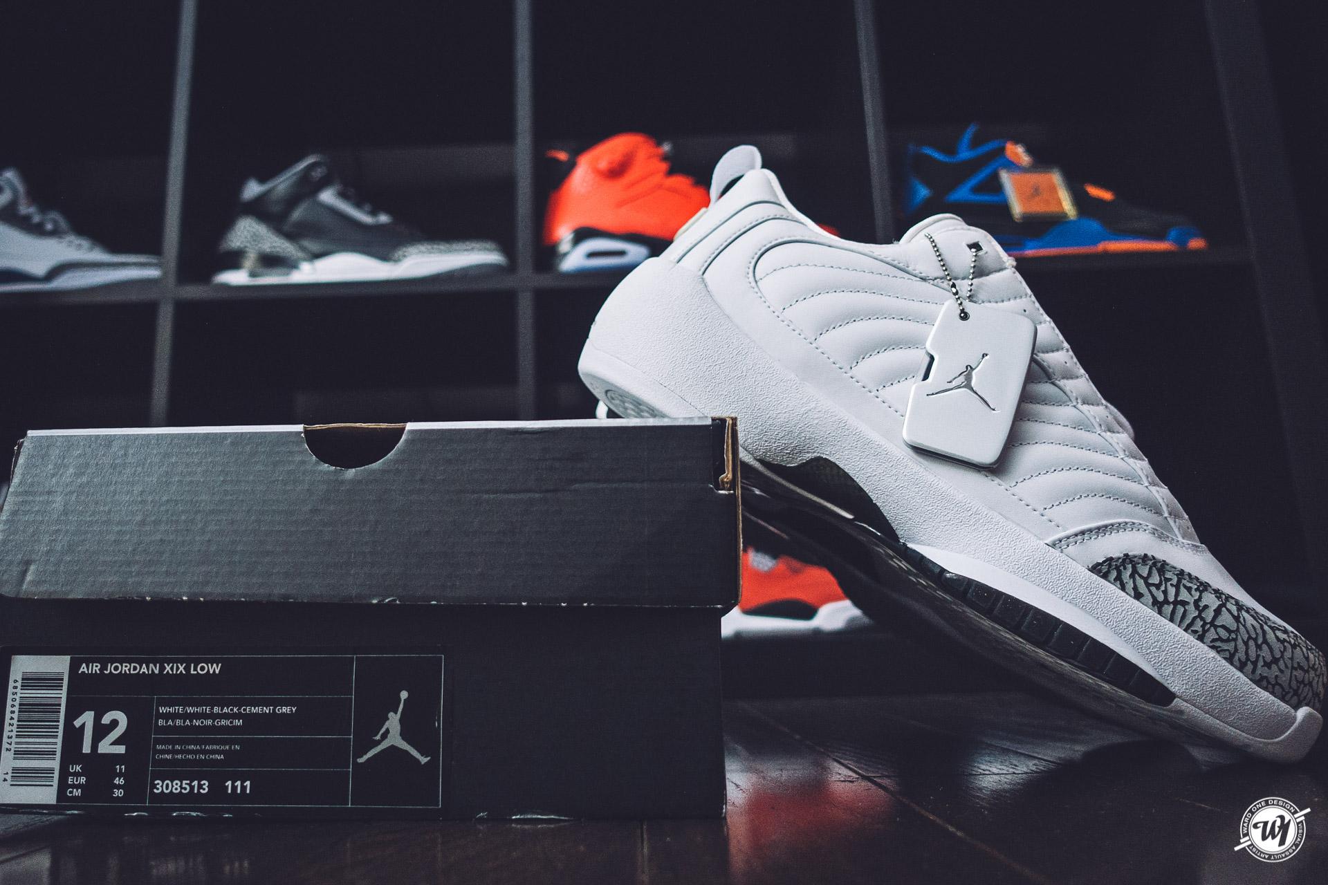 b68f1a30d4e967 2004 Air Jordan 19 (XIX) Original (OG) Low – White   Cement Grey – Black