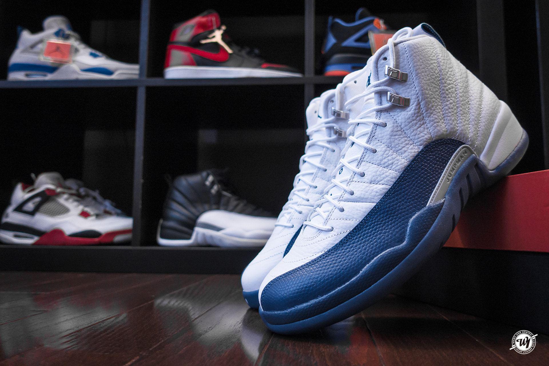 """f155af6726b3 Air Jordan 12 Retro """"French Blue""""   Ward 1 Design"""
