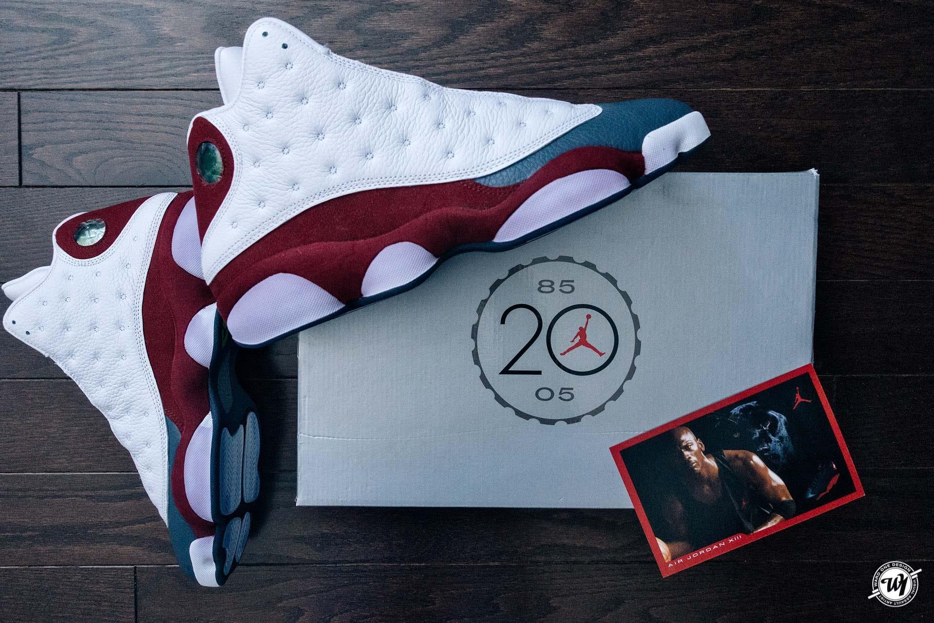 low priced 16ec7 3052e Air Jordan 13 (XIII) Retro – White   Team Red – Flint Grey 2005