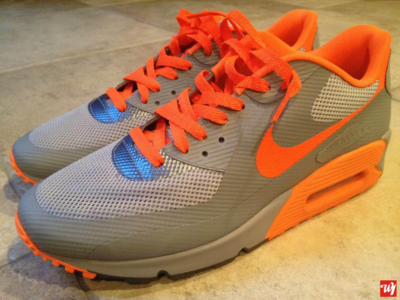 "newest 36241 bd7e3 Nike Air Max 90 Hyperfuse Premium ""Stealth Total Orange""   Ward 1 Design"