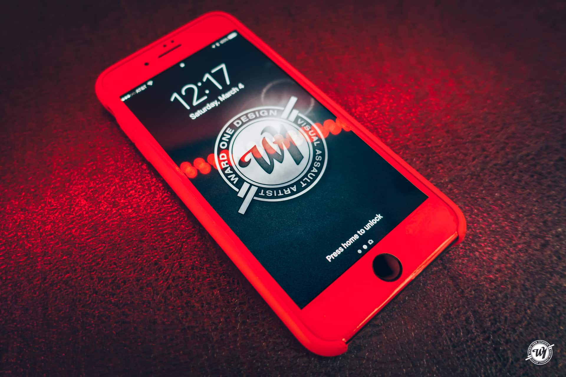 All Red iPhone 7 Plus Ward 1 Design