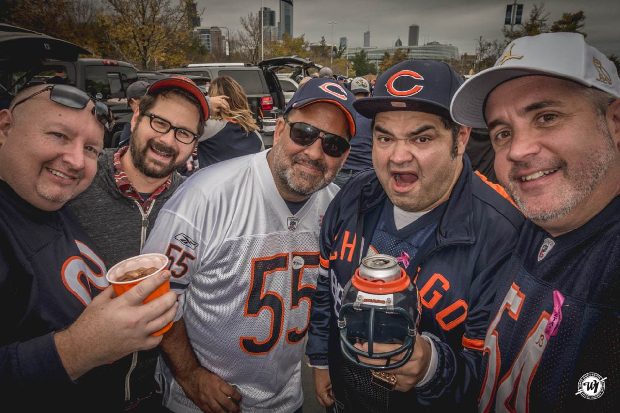 Epic Chicago Bears Birthday Tailgate photography Sports