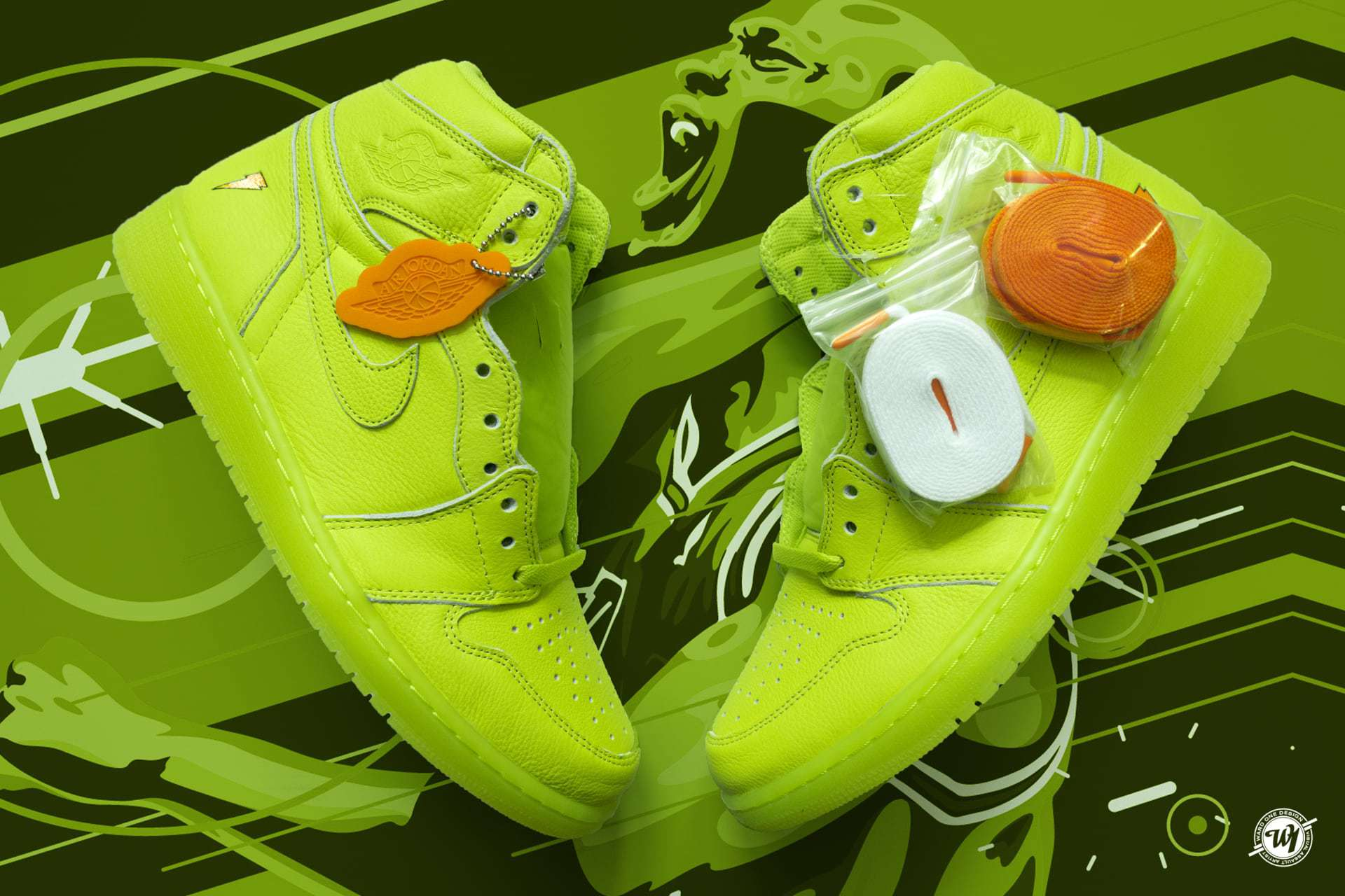 Air Jordan I • Lemon Lime Gatorade Ward 1 Shoes