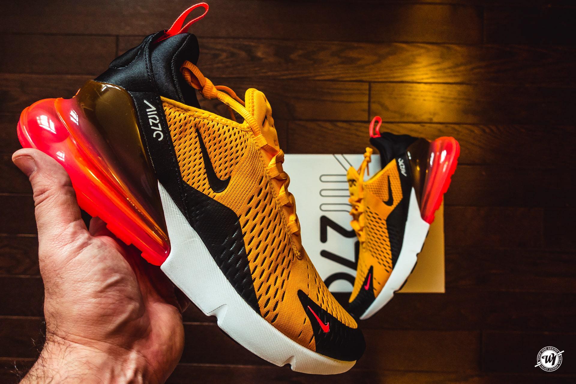 Nike Air Max 270 • University Gold/ Hot Punch