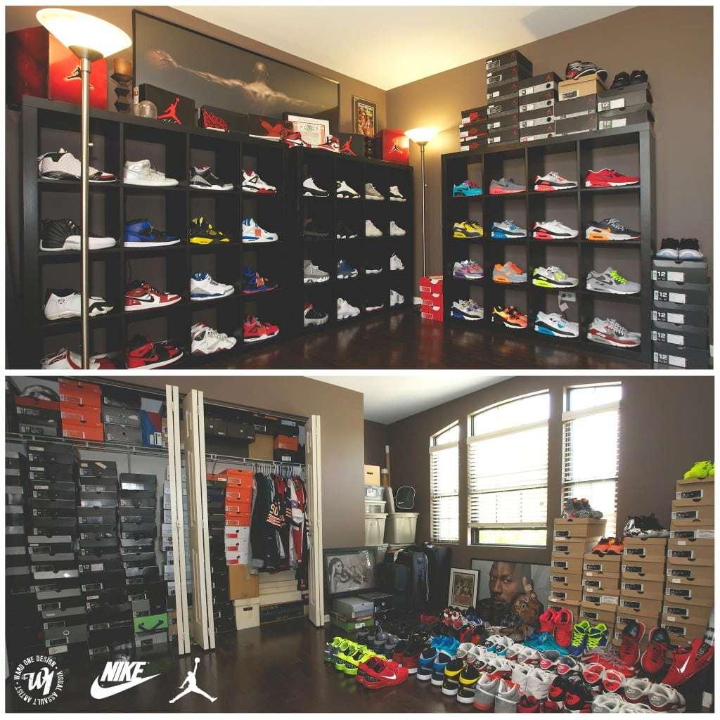 My Nike Air Jordan and Air Max Sneaker Collection Room